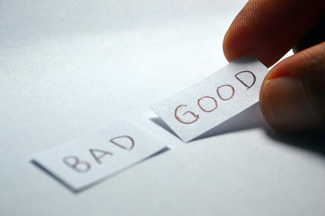 good v bad